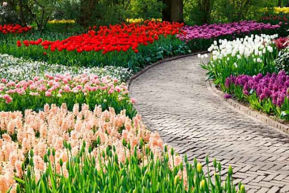Stone Garden Path Ideas check out how to make your stone garden path without breaking your wallet This Is Lovely Colorful Flowers Are Flanking The Path A Classic Pathway Design To Follow Garden Pathway