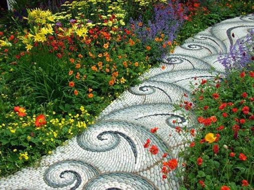 Stones In The Garden 15 amazing garden path ideas balcony garden web very easy to imply this in the picture someone planted these stones in the soil and the path is ready to walk on an inexpensive idea workwithnaturefo