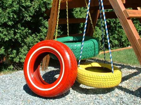 Adding Something Made Of Tire Not Only Be A Smart Recycling But It Also Adds Creative Aspect In Garden