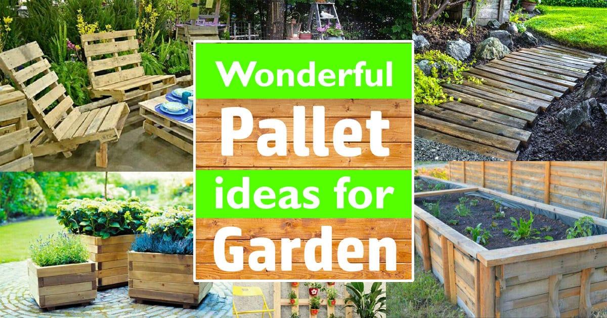Pallet Ideas For The Garden Wonderful pallet ideas for the garden workwithnaturefo