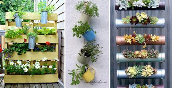 Vertical Gardening Ideas here is an idea for a vertical garden in your Wooden Pallets Can Be Used To Do Multiple Things You Can Hang Pots On Them And Grow Plants In Its Narrow Space Read More On Diy Pallets Ideas