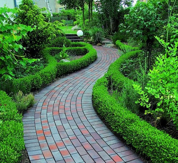 Brick pathway ideas for garden design Pathway images