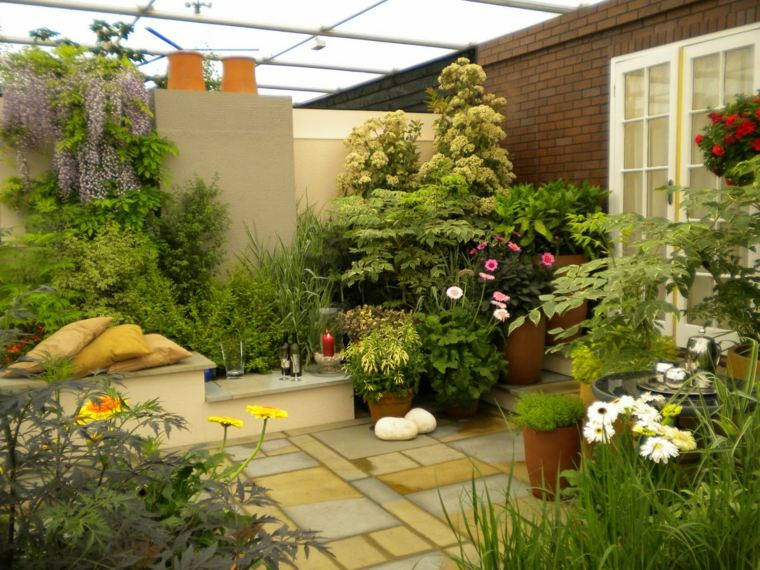 3 beautiful terrace garden