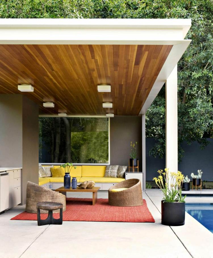 Modern pergola design ideas for Modern backyard ideas