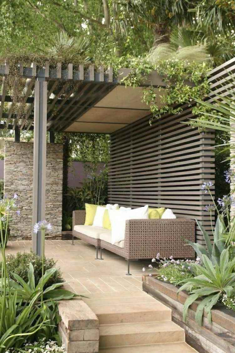 Modern pergola design ideas for Jardin decoration terrasse