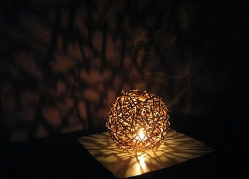 Diy lamp shade how to make a lamp shade of twigs in 6 steps step 6 diy lamp shade aloadofball