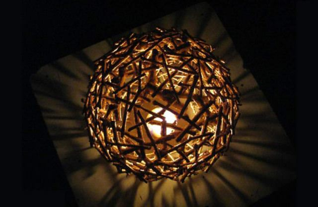 Diy lamp shade how to make a lamp shade of twigs in 6 steps step 5 cheap lamp shade mozeypictures Image collections