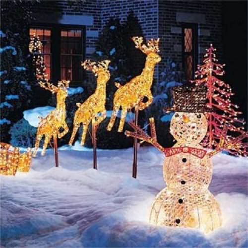 Reindeer Yard Decorations Christmas