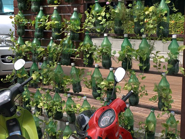 13 plastic bottle vertical garden ideas soda bottle for How to use wine bottles in the garden