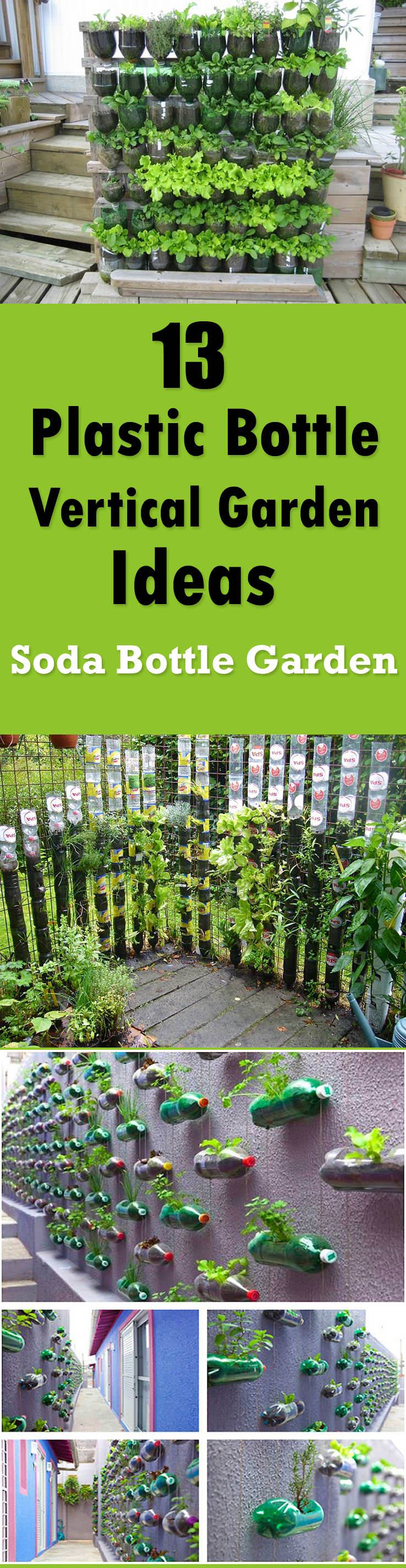 plastic bottle verticle garden ideas - Diy Vegetable Garden Ideas
