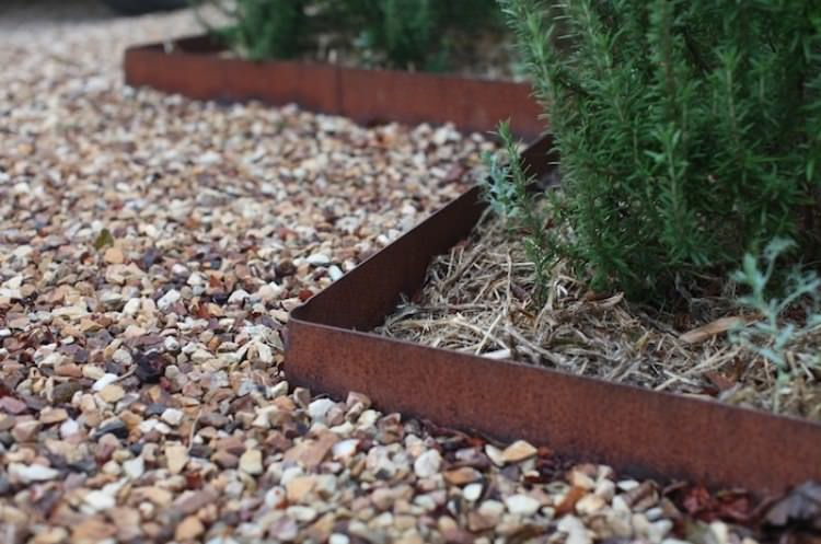 Landscape Edging Rustic : Corten steel landscaping ideas for garden design balcony web