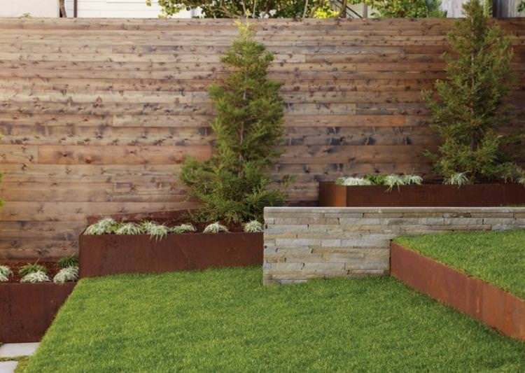 Corten Steel Raised Beds For Ornamental Garden 13