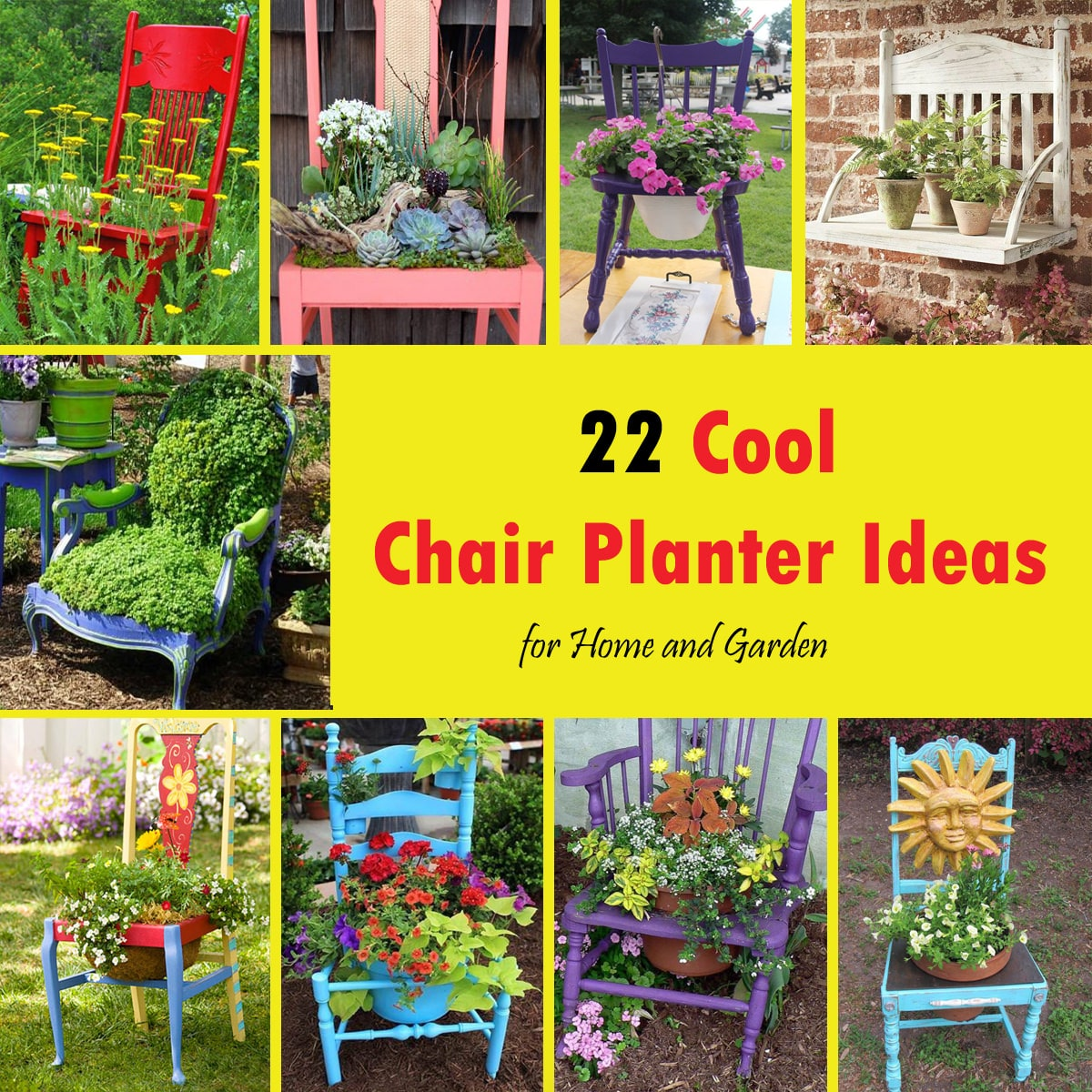 Diy Balcony Garden Ideas: 22 Cool Chair Planter Ideas For Home And Garden