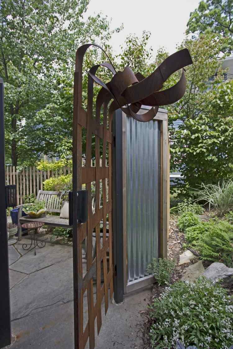 Corten Steel Garden Gate, Eye Catching 7