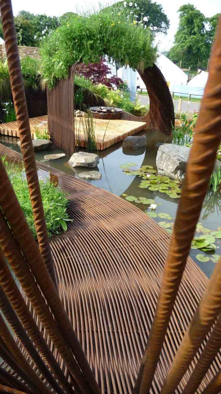16 Corten Steel Landscaping Ideas for Garden Design   Balcony Garden Web