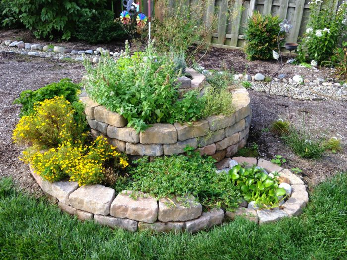 how to build a spiral herb garden 2