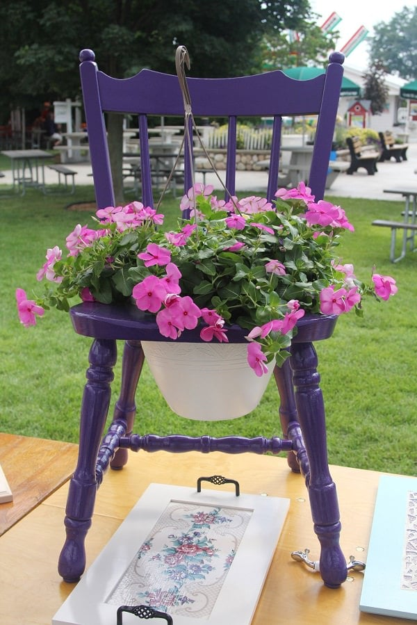 You Can Also Insert A Hanging Basket And Hang It On The Chair