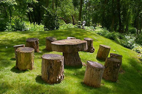 Tree Stump Ideas on Stools Made From Logs