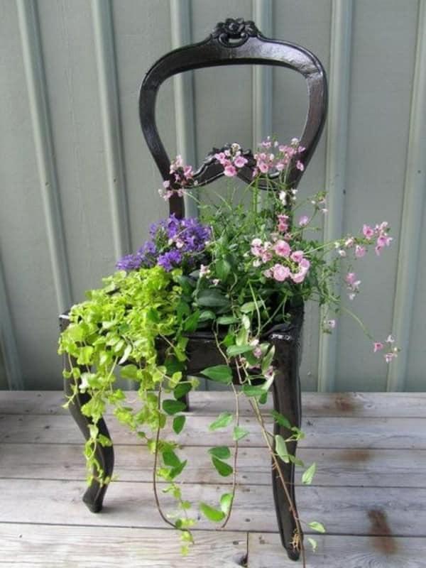 6. chair planter ideas