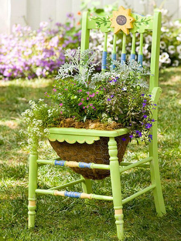 Do Not Limit Yourself To Just One Color U2013 Try Combinations. Below Are Some  Pictures For Inspiration. Upcycled Chair Planter