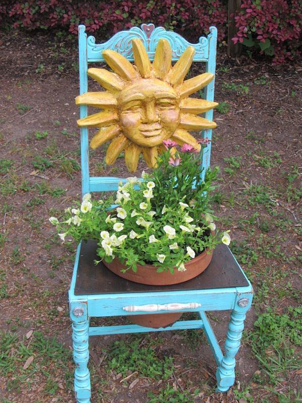 4. chair planter ideas