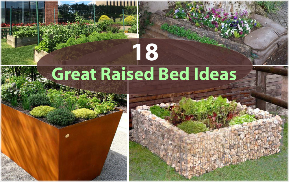 18 great raised bed ideas raised bed gardening balcony for Raised vegetable garden bed designs
