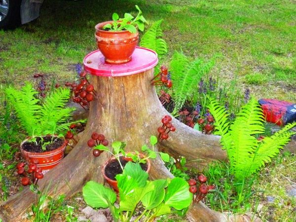 If you don't want to make a planter, save yourself from labor by making a  tree stump pot stand. If you're not satisfied with the natural looks and to  ...