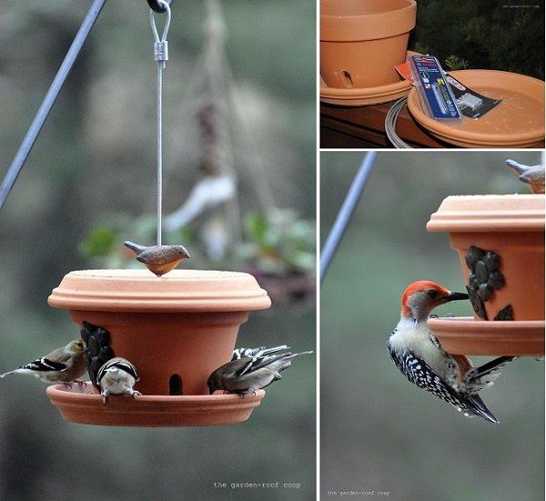 Baño del pájaro del mosaico   Proyectos del patio trasero - pájaros y floraciones