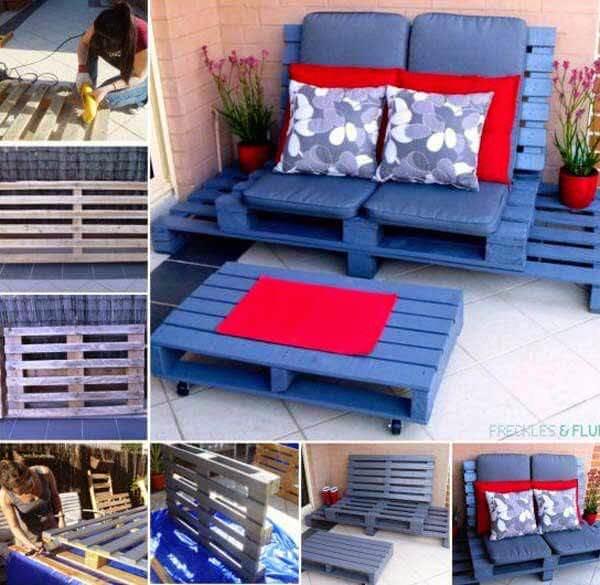 Garden Furniture Set From Pallets. 20 Amazing DIY Garden Furniture Ideas   DIY Patio   Outdoor