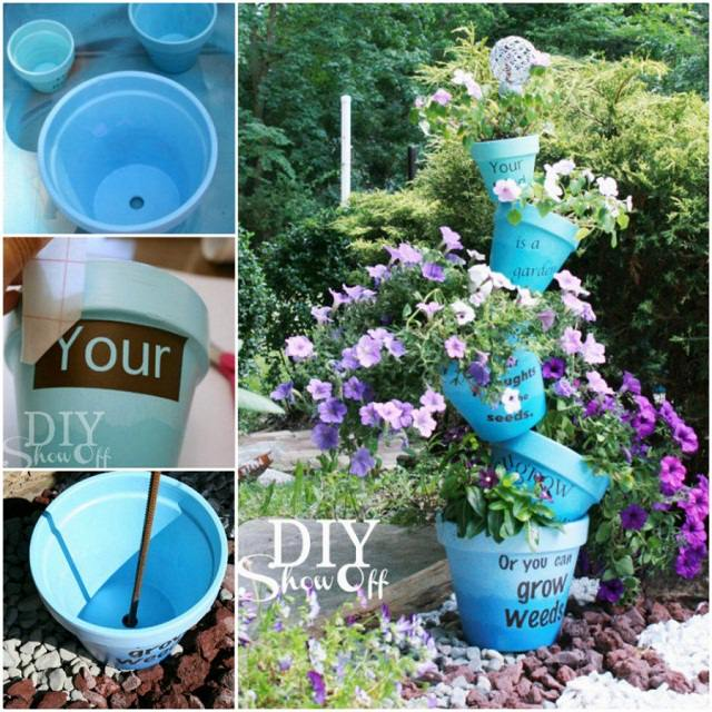 diy stacked pot - Flower Pot Ideas
