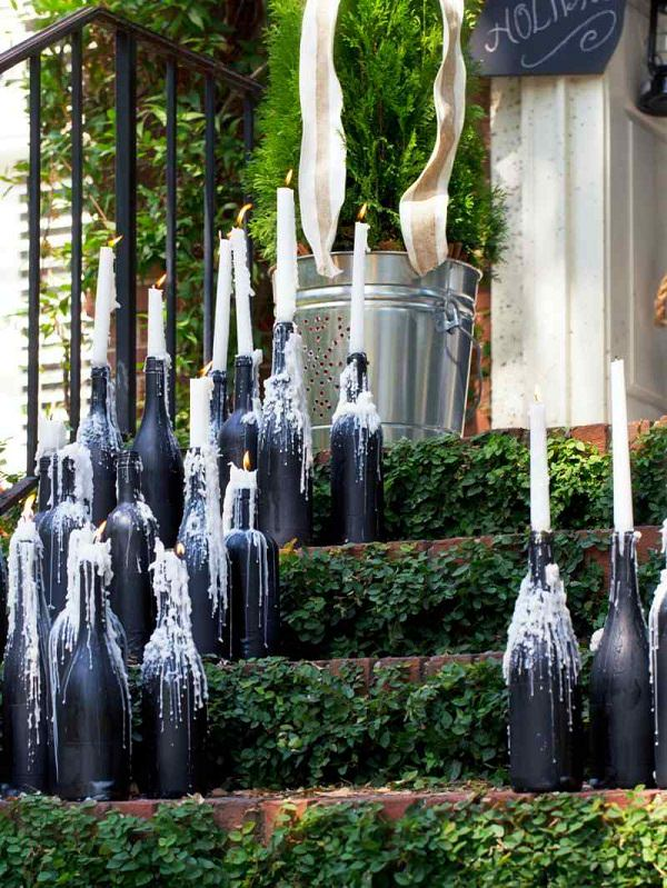 homemade garden ornaments diy wine bottle ideas for the garden 26 wine bottle uses