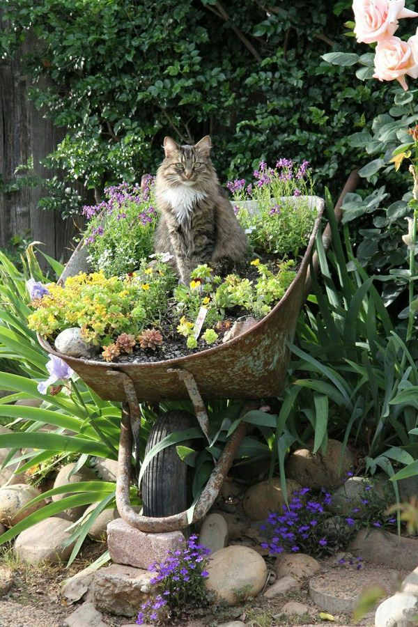 Planter Garden Ideas small garden ideas with wooden planters Wheelbarrow Planter 2