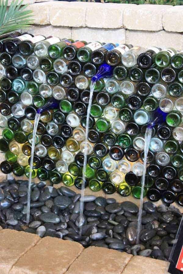 Charmant Wine Bottles In Garden 7