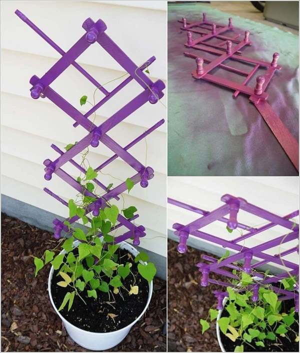 Diy Garden Trellis Ideas Part - 35: Hanger Trellis. Small Garden Trellis Ideas