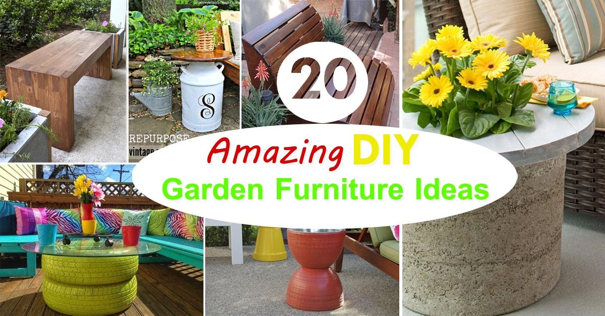 20 amazing diy garden furniture ideas diy patio for Garden design ideas diy