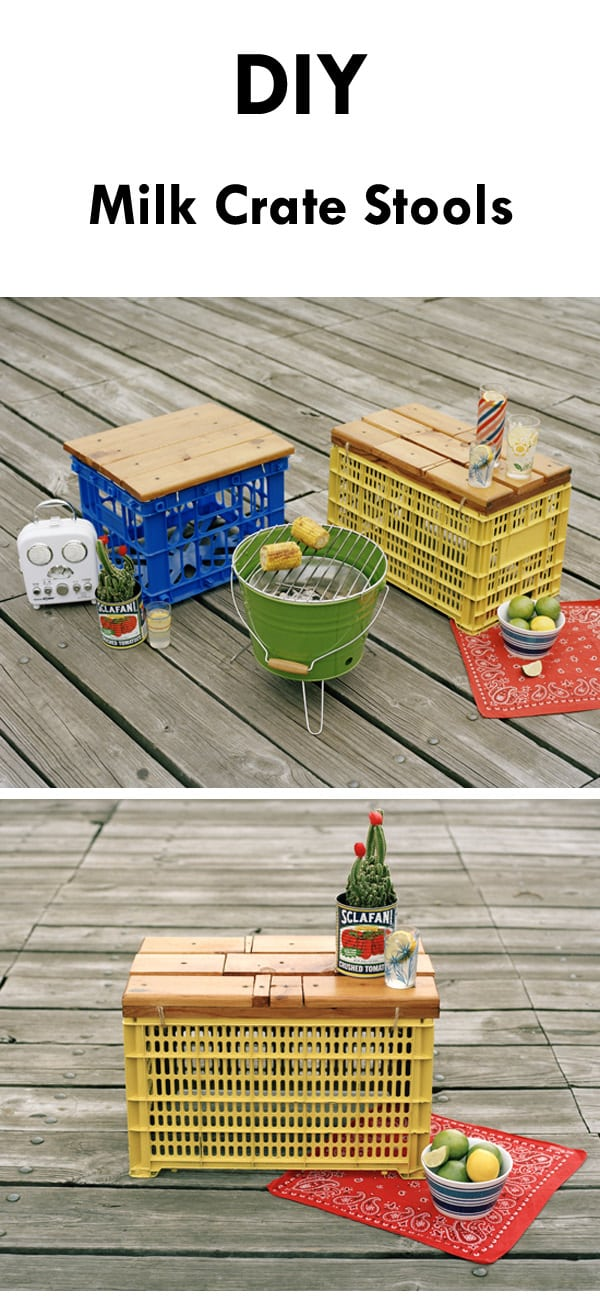 diy milk crate stools for garden - Garden Furniture Crates
