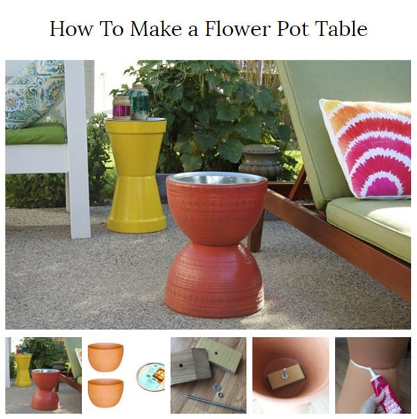 20 amazing diy garden furniture ideas diy patio for How to make beautiful flower pots at home