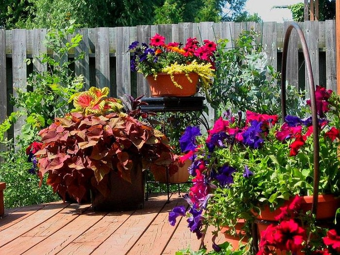 outdoor flower planter ideas - Flower Garden Ideas In Pots