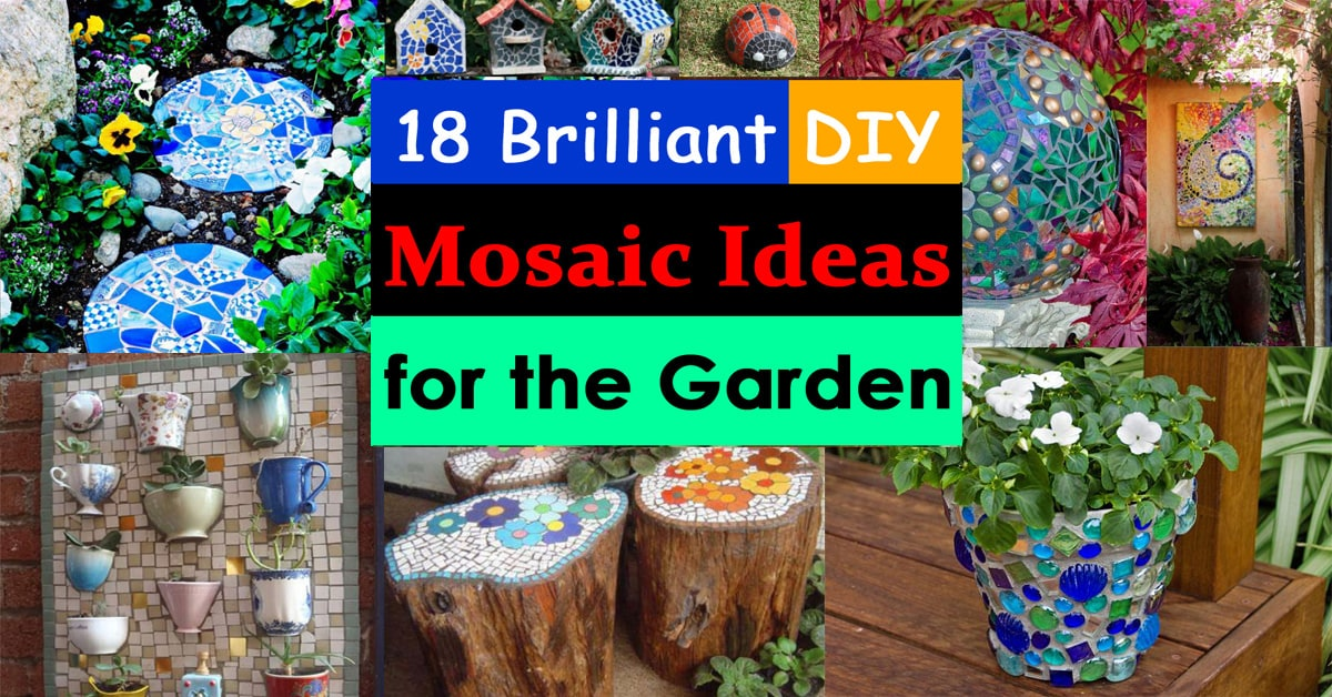 18 Brilliant DIY Mosaic Ideas For Garden Craft