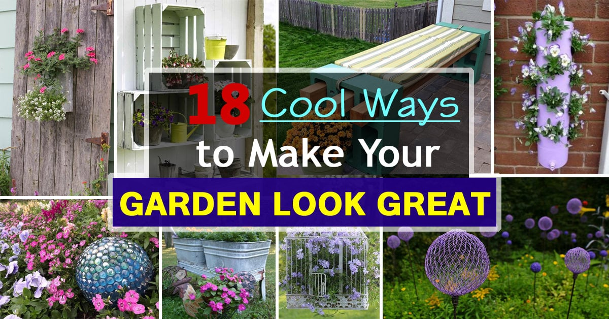 18 cool diy ideas to make your garden look great balcony for Create your garden