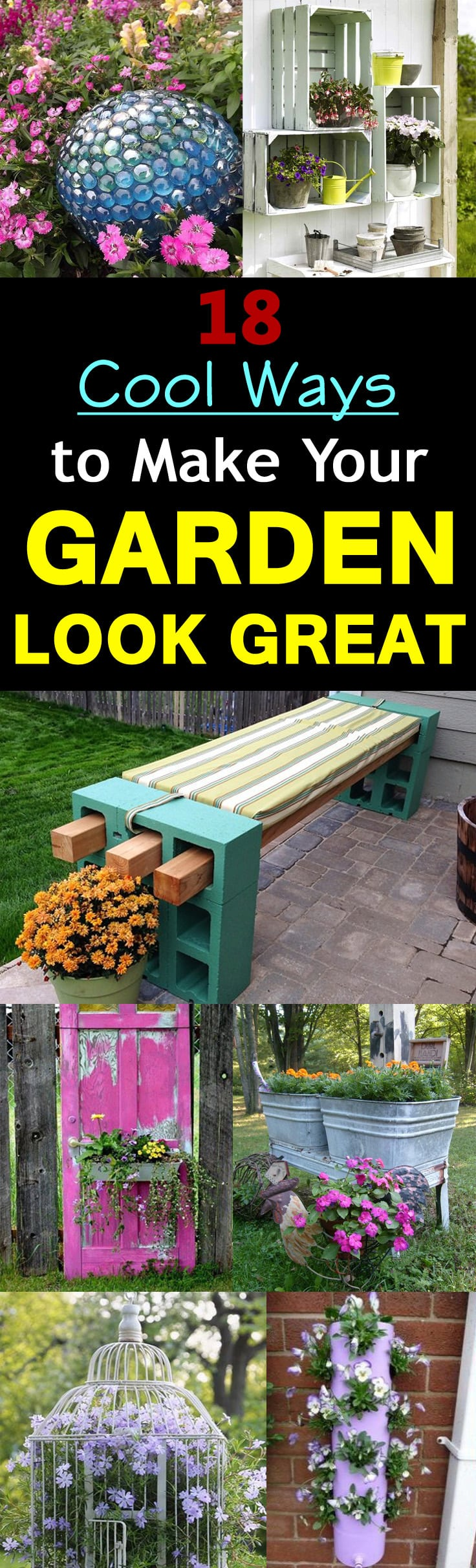 18 cool diy ideas to make your garden look great | balcony garden web