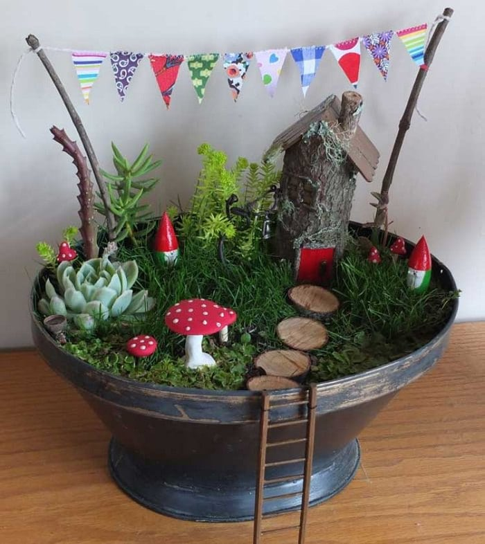 Gnome Garden Ideas find this pin and more on flowers gardens Diy Fairy Garden Ideas 6
