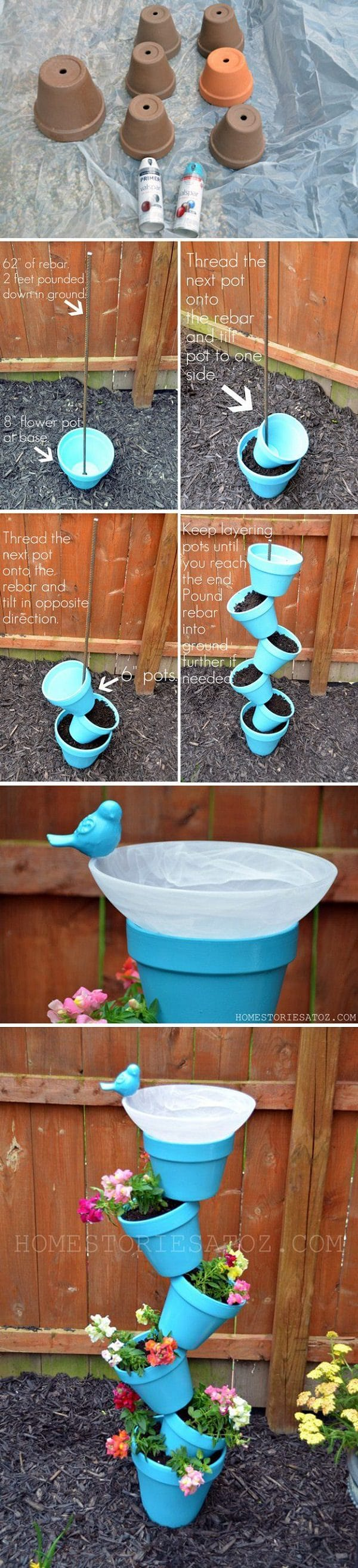 18 Cool DIY Ideas To Make Your Garden Look Great | Balcony ...