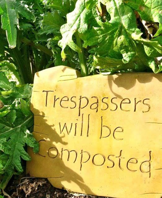 Warning For Trespassers, Funny For Garden Visitors.