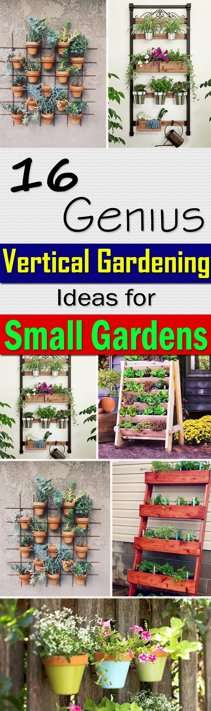 16 genius vertical gardening ideas for small gardens | balcony ... - Patio Gardening Ideas