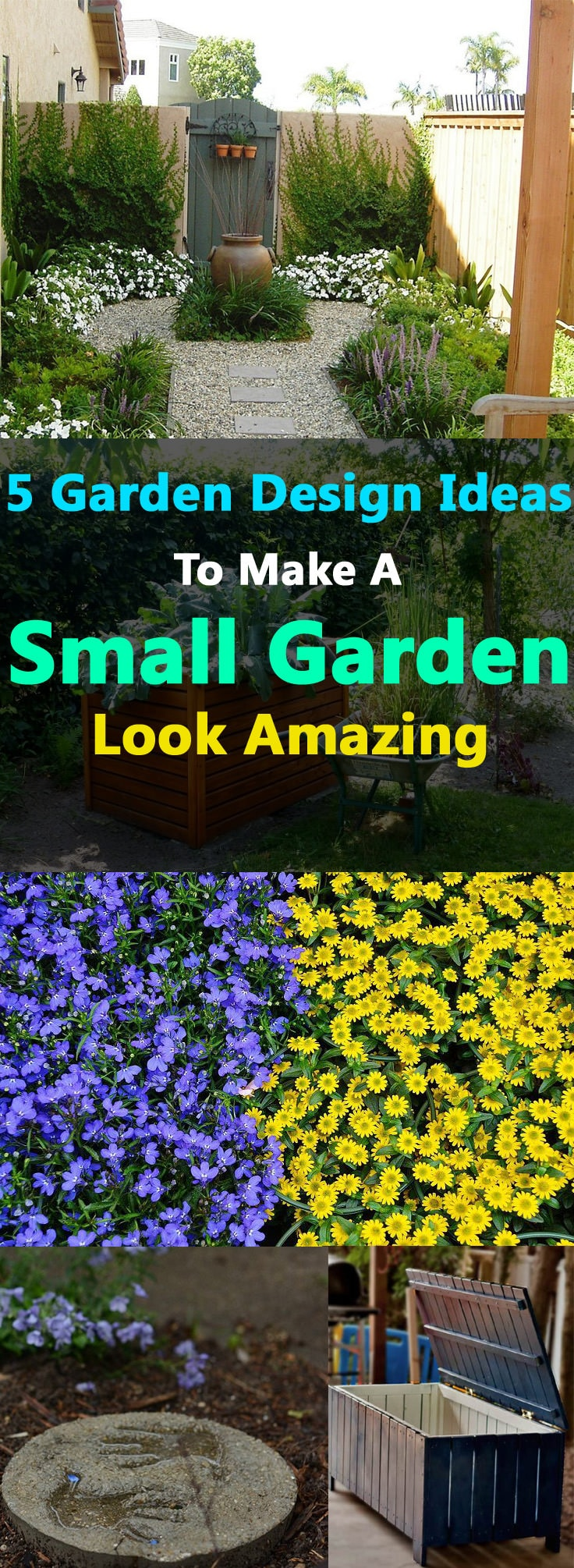 5 garden design ideas to make a small garden look amazing for Garden layout ideas small garden