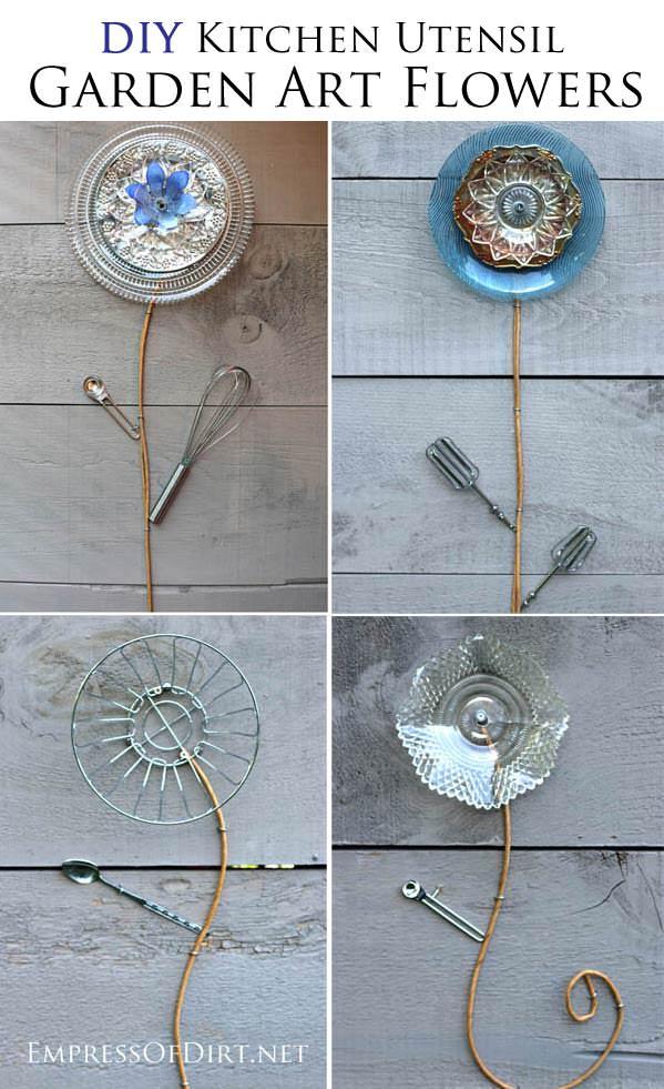19 Best DIY Garden Ideas Using Kitchen Items & Utensils | Balcony ...