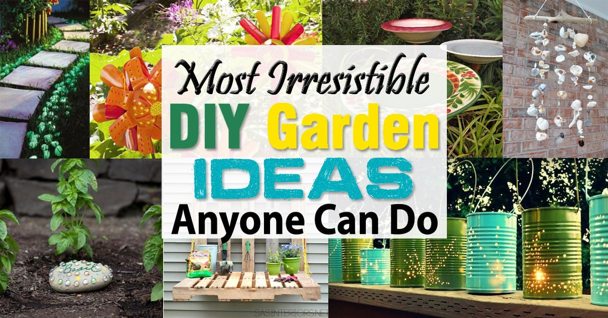 Most irresistible diy garden ideas anyone can do balcony for Diy home garden design
