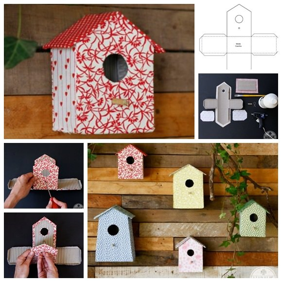 Diy cardboard projects ideas for garden balcony garden web for How to make birdhouses out of plastic bottles