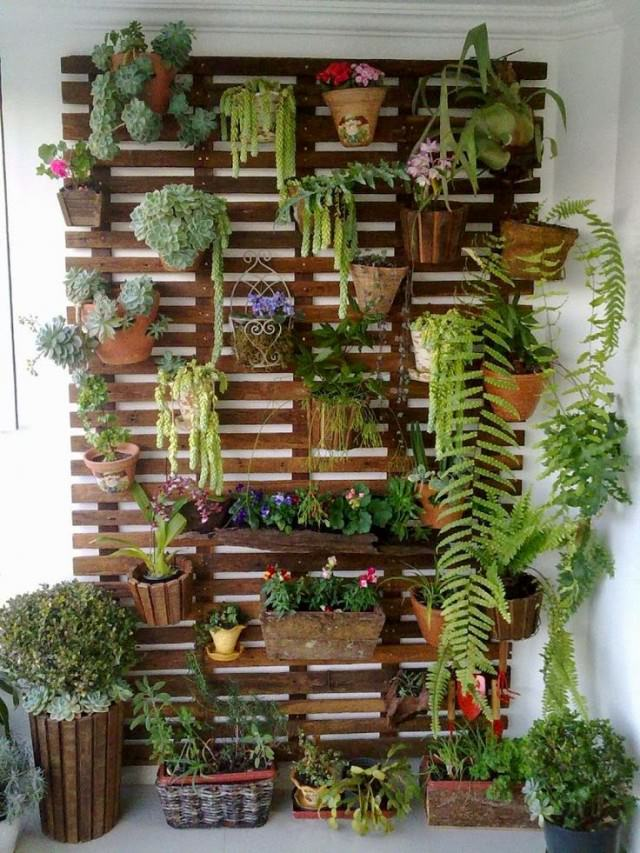 Indoor Gardening Ideas Part - 22: 11. Pallet Container Holder. DIY Vertical Indoor Garden Ideas